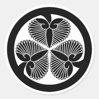 Tokugawa mallow 6 generations house declaration 3 round sticker