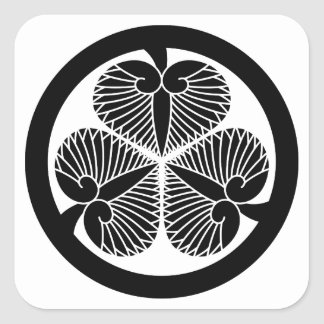 Tokugawa mallow 6 generations house declaration 3 stickers