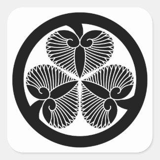 Tokugawa mallow 6 generations house declaration 3 square stickers