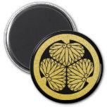 Tokugawa Mon or Kamon (black & gold) Refrigerator Magnet