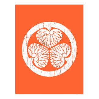 Tokugawa white crest distressed post card