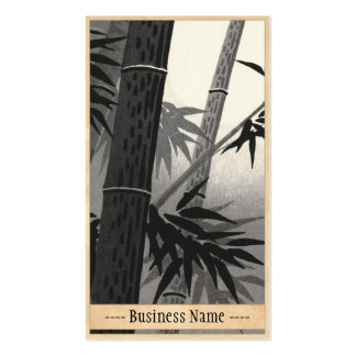 Tokuriki Bamboo and Sun japanese fine art Double-Sided Standard Business Cards (Pack Of 100)