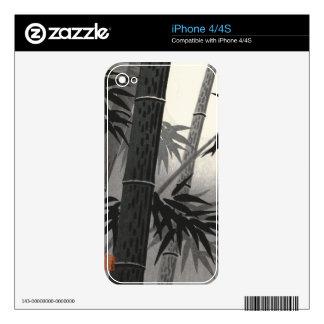 Tokuriki Bamboo and Sun japanese fine art Decals For iPhone 4S