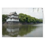 tokyo, area surrounding the emperor's house greeting card