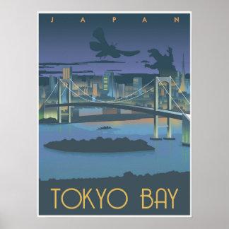 Tokyo Bay at night Poster