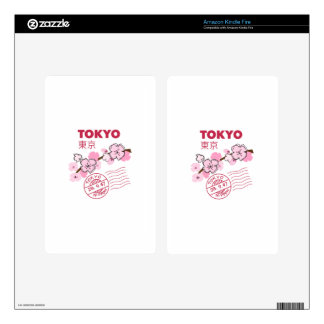 TOKYO CHERRY BLOSSOM DECAL FOR KINDLE FIRE