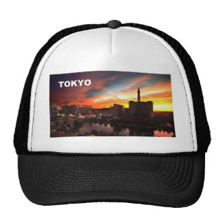 Tokyo city at twilight (St.K) Hats