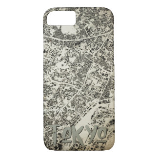 Tokyo City Streets and Buildings Vintage Design iPhone 8/7 Case