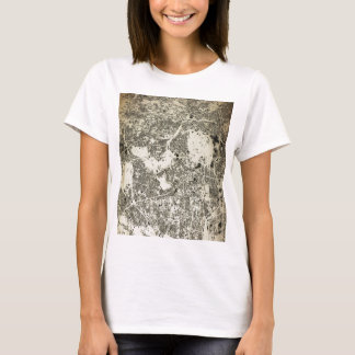 Tokyo City Streets and Buildings Vintage Design T-Shirt