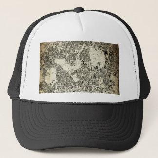 Tokyo City Streets and Buildings Vintage Design Trucker Hat