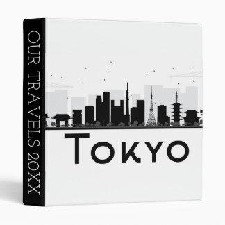 Tokyo, Japan   Black & White City Skyline 3 Ring Binder