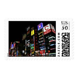 Tokyo Japan Night Skyline Stamps