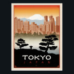 "Tokyo, Japan Postcard<br><div class=""desc"">Anderson Design Group is an award-winning illustration and design firm in Nashville,  Tennessee. Founder Joel Anderson directs a team of talented artists to create original poster art that looks like classic vintage advertising prints from the 1920s to the 1960s.</div>"