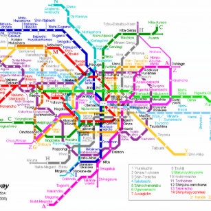 Gmp Subway Map.Tokyo Subway Map Gifts On Zazzle