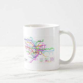 Tokyo Japan Subway Map Coffee Mug