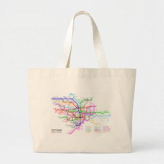 Tokyo Japan Subway Map Large Tote Bag