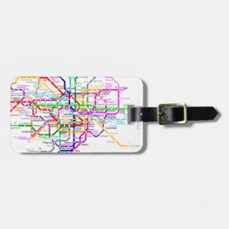 Tokyo Japan Subway Map Tag For Bags