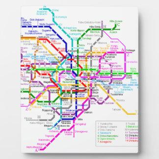 Tokyo Japan Subway Map Plaque