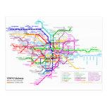 Tokyo Japan Subway Map Postcard