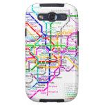 Tokyo Japan Subway Map Samsung Galaxy S3 Cases