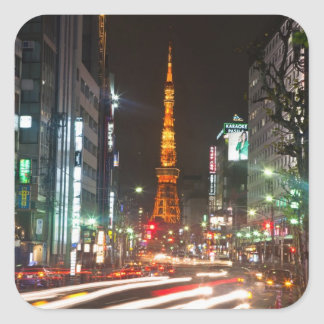 Tokyo, Japan. Tokyo Tower is a communications Square Sticker