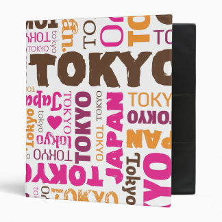 Tokyo japanese typography photo album binder