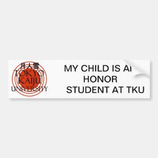 Tokyo Kaiju University Bumper Sticker