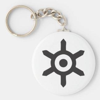 Tokyo Basic Round Button Keychain