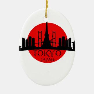 Tokyo Landmark Ceramic Ornament