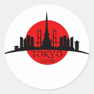 Tokyo Landmark Classic Round Sticker