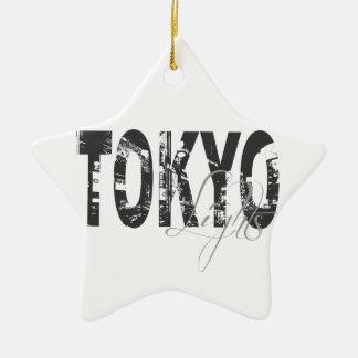 Tokyo Lights Ceramic Ornament