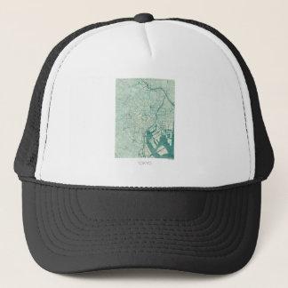 Tokyo Map Blue Vintage Watercolor Trucker Hat