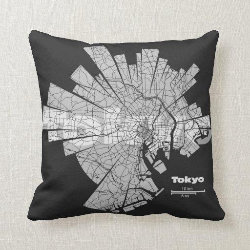 Tokyo Map Pillow