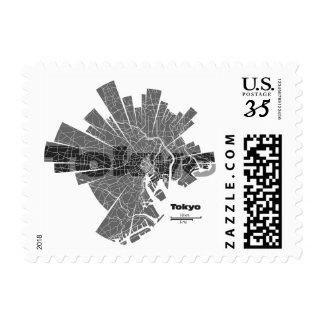 Tokyo Map Post Stamp