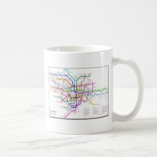 Tokyo Metro Map Classic White Coffee Mug