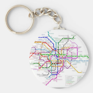 Tokyo Metro Map Key Chains
