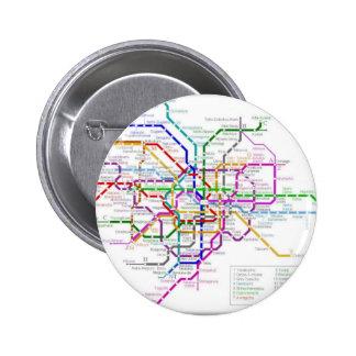 Tokyo Metro Map Pinback Button