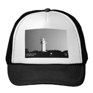tokyo modern art sea fire tower light tower photo trucker hat