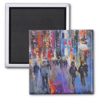 Tokyo Night 2 Inch Square Magnet
