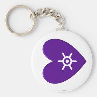 Tokyo Prefecture Flag Heart Basic Round Button Keychain