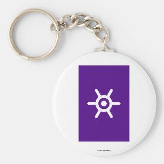 Tokyo Prefecture Flag Basic Round Button Keychain