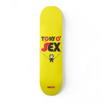 Tokyo Sex Skate Deck by mmora_brand