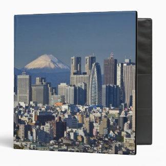 Tokyo, Shinjuku District Skyline, Mount Fuji, 3 Ring Binders