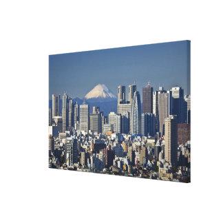Tokyo, Shinjuku District Skyline, Mount Fuji, Canvas Print
