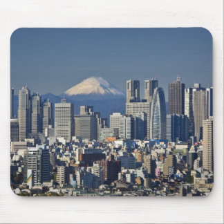 Tokyo, Shinjuku District Skyline, Mount Fuji, Mousepad
