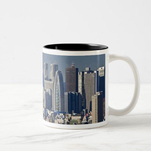 Tokyo, Shinjuku District Skyline, Mount Fuji, Coffee Mugs