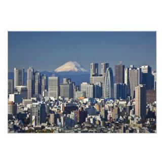 Tokyo, Shinjuku District Skyline, Mount Fuji, Photo Print