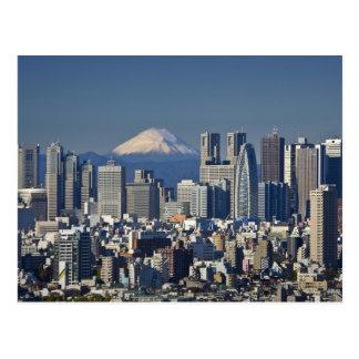 Tokyo, Shinjuku District Skyline, Mount Fuji, Postcard