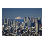 Tokyo, Shinjuku District Skyline, Mount Fuji, Posters