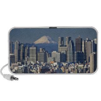 Tokyo, Shinjuku District Skyline, Mount Fuji, Laptop Speakers